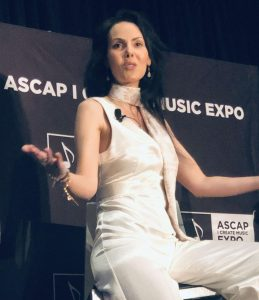 Public speaking event as ASCAP The Spiritual Owl on stage